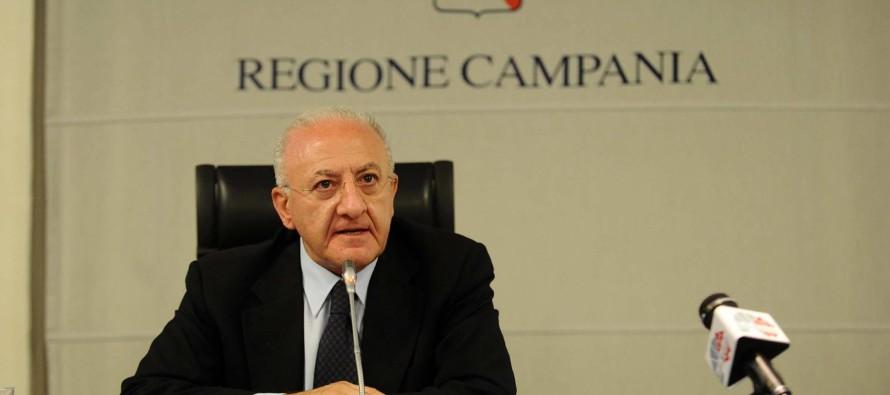 """Regione Campania, De Luca : """"Bisogna combattere la camorra"""""""