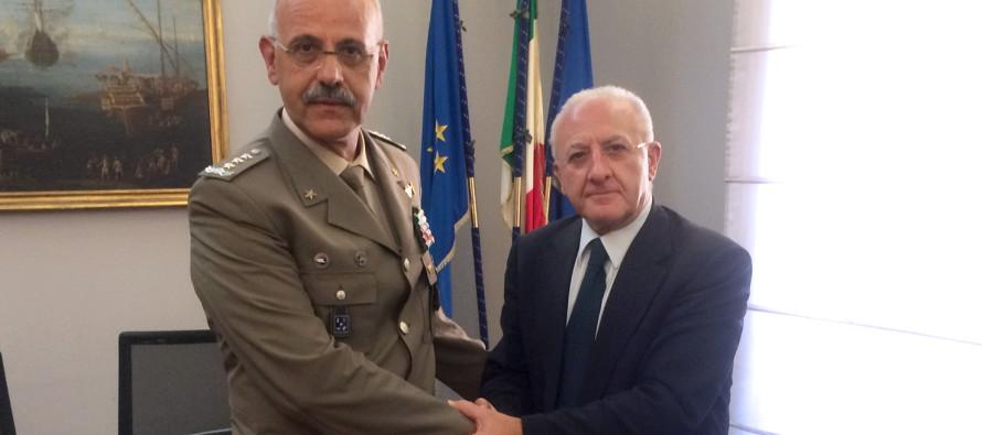 Esercito: incontro istituzionale con il Governatore De Luca