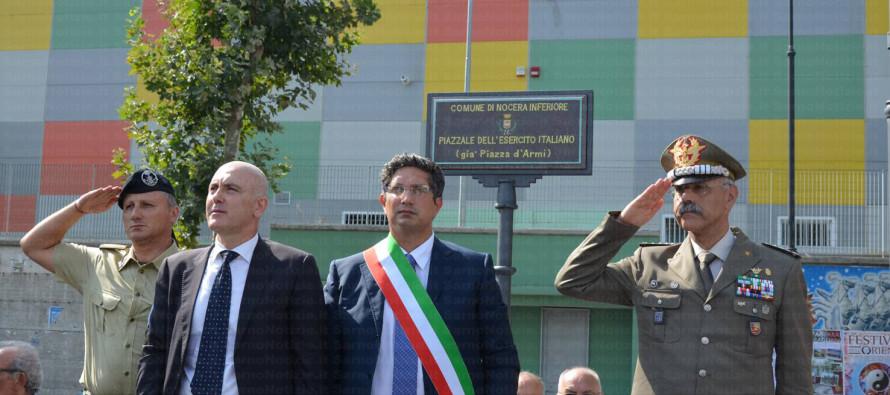 A Nocera Inferiore la prima piazza in Italia intitolata all'Esercito