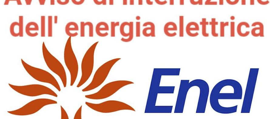 Interruzione dell'energia elettrica. Ecco dove…