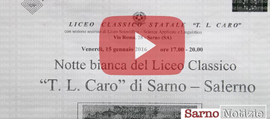 VIDEO | Notte bianca al Liceo Classico di Sarno