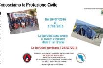 La Protezione Civile presenta il Campo Scuola. I volontari in campo