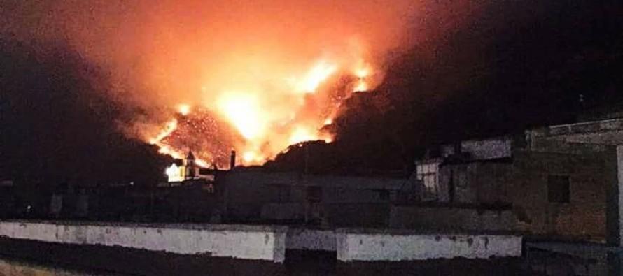 """Montagna: fuoco e distruzione. Ad Episcopio terrorizzati: """" Sembra lava""""."""