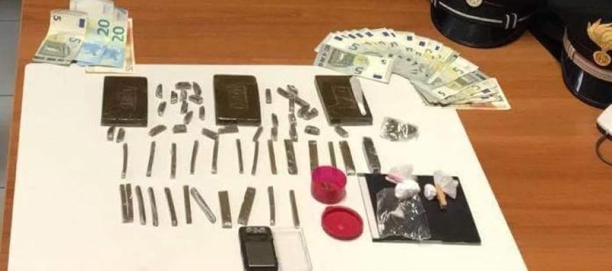 Hashish, cocaina e crack: arrestato 34enne