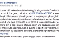 Trasferta di paura per gli atleti del «Per San Marzano» picchiati in campo e negli spogliatoi a Mugnano del Cardinale