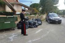 Poggiomarino: gettano in strada 10 sacchi di asfalto e bitume.