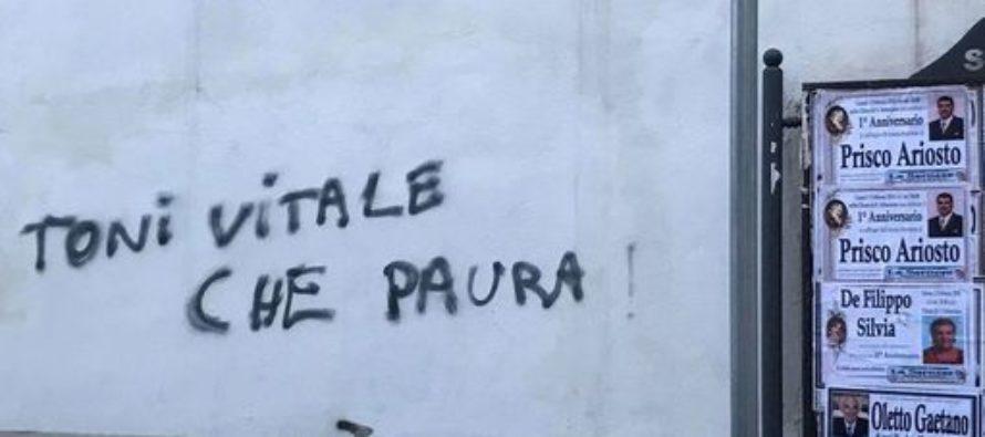 Scritte e minacce contro i carabinieri: nel mirino il comandante Vitale