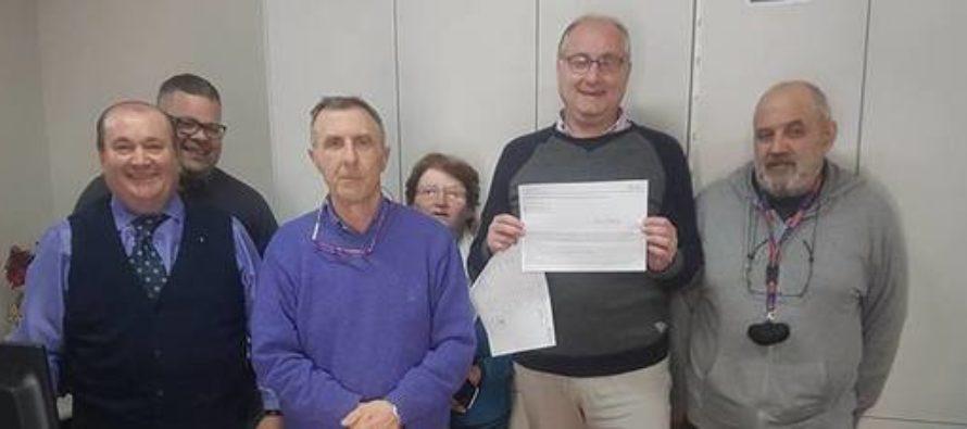 Sì donazione organi: la prima carta d'identità è del sindaco Strianese