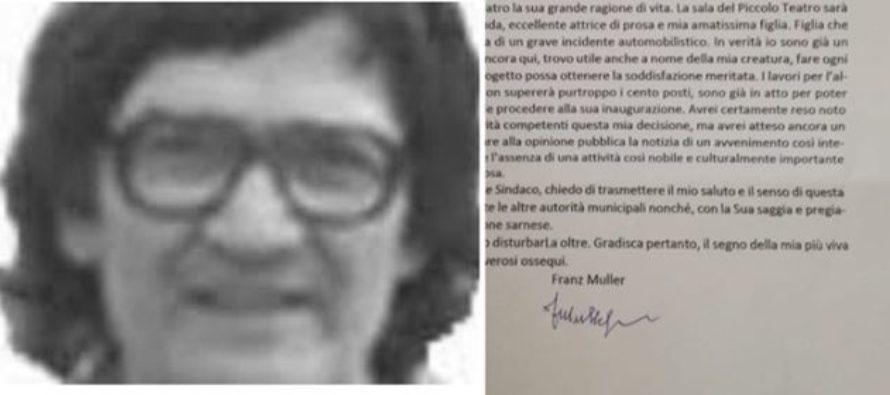 """Franz Muller esce allo scoperto: scrive a Ferrentino e rivela un """"segreto"""""""