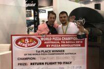 Francesco Palumbo, campione di pizza in  Australia con i prodotti dell'Agro