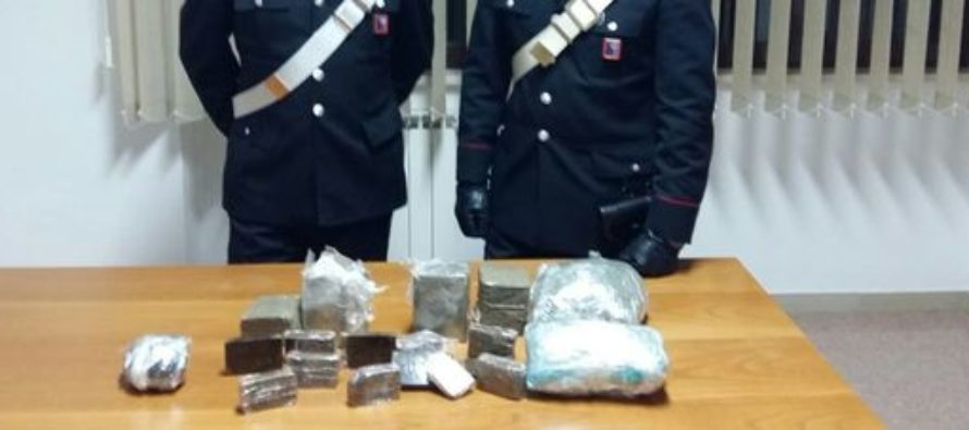 Droga nel borsone della palestra: arrestato 31enne