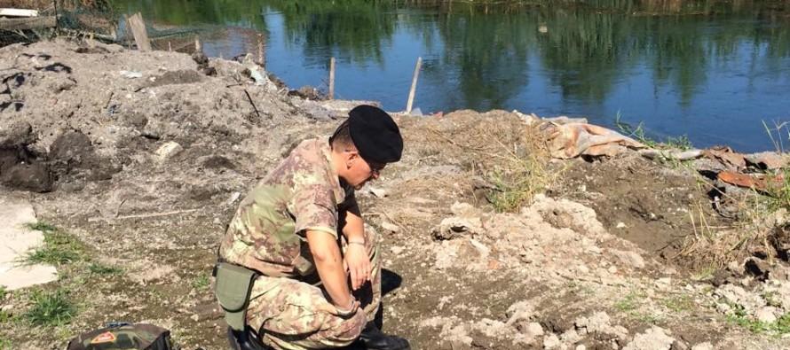 Mina tedesca nel Fiume Sarno, operazione dell'Esercito Italiano