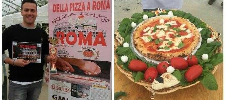 Giuseppe Dolgetta conquista il 2° posto alla Festa della Pizza di Roma