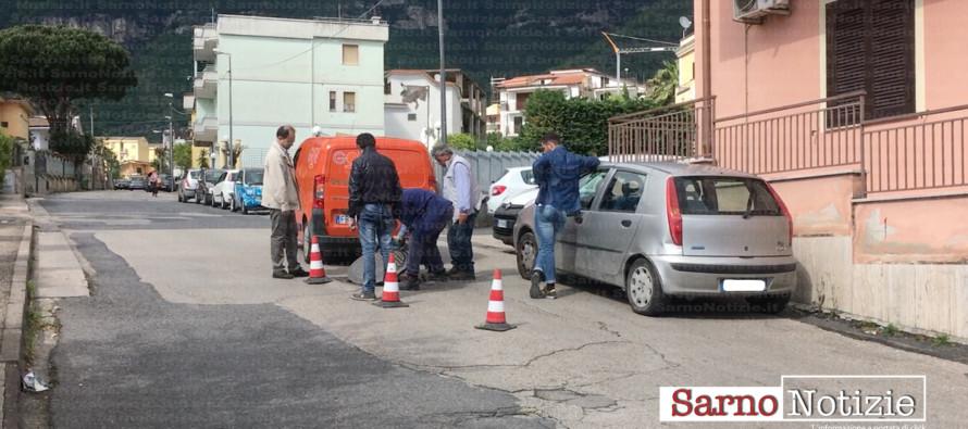 """Viale Margherita a rischio, grave infiltrazione nel sottosuolo. Ferrentino: """"Già un cedimento evidente"""""""