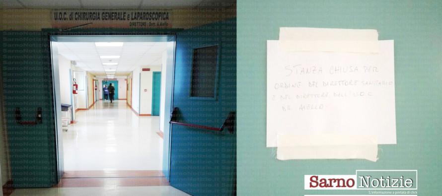 Il caso – Ospedale: stanze chiuse e sigillate con cerotti.