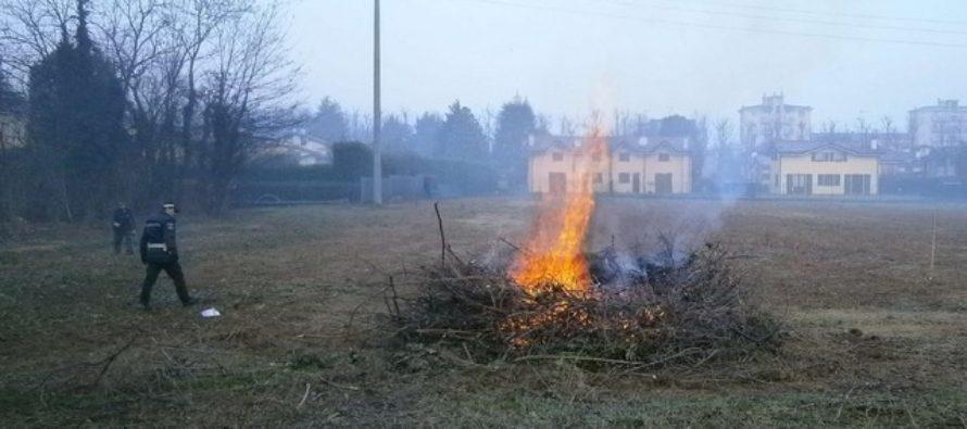 Bruciano rifiuti agricoli, contadini multati