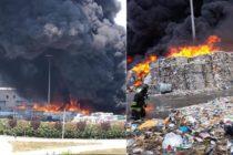 """Incendio all'impianto di rifiuti. """"Ci stanno uccidendo!"""""""