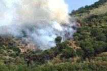 Incendio in montagna, torna la paura