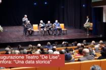 """Inaugurazione Teatro """"De Lise"""", Canfora: """"Una data storica"""""""