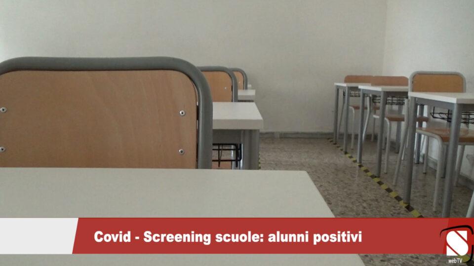 Covid - Screening scuole: alunni positivi